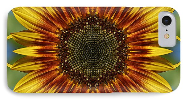 Sunflower Kaleidoscope Phone Case by Cindi Ressler