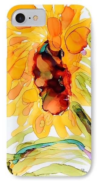 Sunflower Left Face IPhone Case by Vicki  Housel