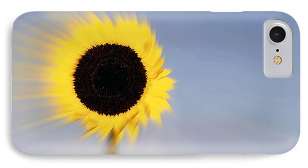 Sunflower Light Rays In The Wind  IPhone Case by Linda Matlow
