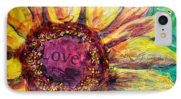 Sunflower Love  IPhone Case by Lisa Fiedler Jaworski