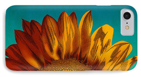 Sunflower IPhone Case by Meg Shearer