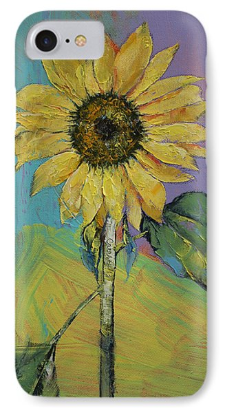 Sunflower IPhone Case by Michael Creese