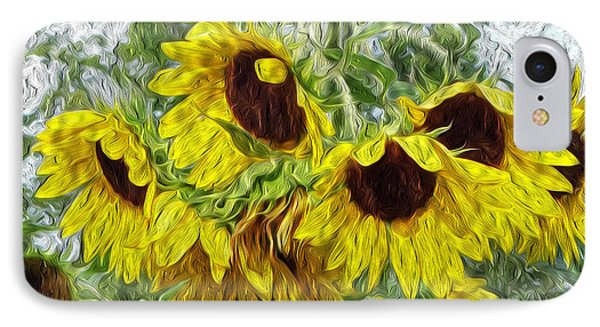 Sunflower Morn II IPhone Case by Ecinja Art Works
