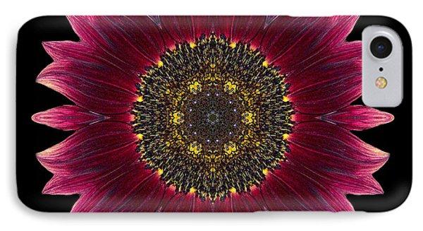 Sunflower Moulin Rouge I Flower Mandala IPhone Case by David J Bookbinder