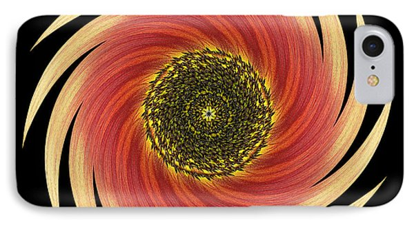 Sunflower Moulin Rouge Vii Flower Mandala Phone Case by David J Bookbinder