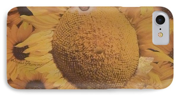 IPhone Case featuring the mixed media Sunflower Mutation by Douglas Fromm