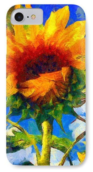 Sunflower - Oh I've Said Too Much IPhone Case by Janine Riley