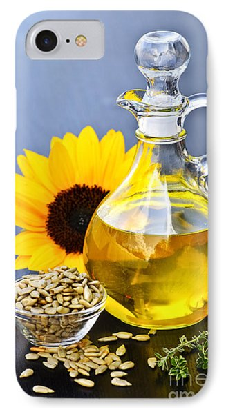 Sunflower Oil Bottle IPhone Case by Elena Elisseeva