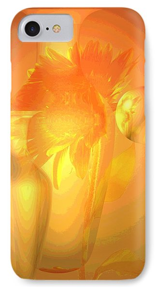 Sunflower Orange With Vases Posterized Phone Case by Joyce Dickens