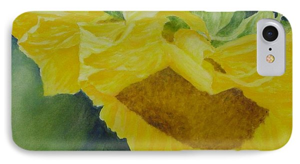 Sunflower Original Oil Painting Colorful Bright Sunflowers Art Floral Artist K. Joann Russell  IPhone Case
