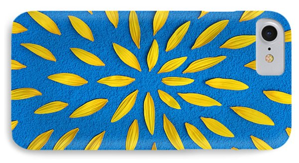 Sunflower Petals Pattern IPhone 7 Case by Tim Gainey