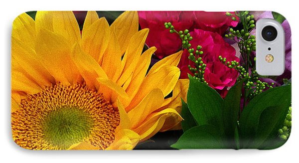 IPhone Case featuring the photograph Sunflower Reflections by Meghan at FireBonnet Art