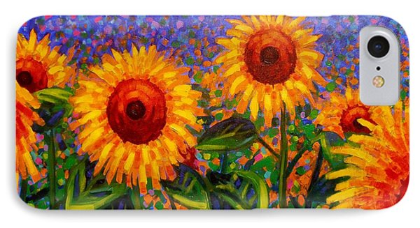 Sunflower Scape IPhone Case by John  Nolan