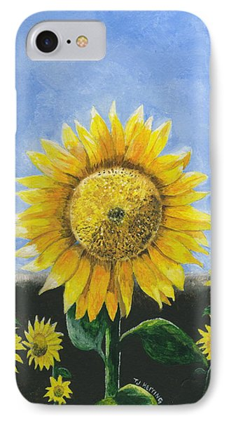 Sunflower Series One IPhone Case by Thomas J Herring