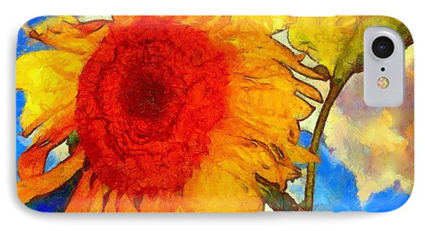 Sunflower Shine IPhone Case by Janine Riley