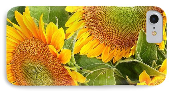 Sunflower Smiles Phone Case by Kim Bemis