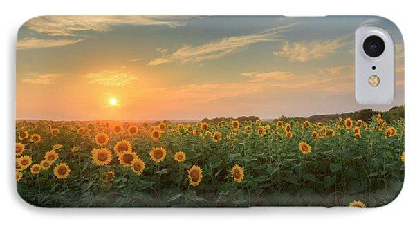 Sunflower Sundown Phone Case by Bill Wakeley