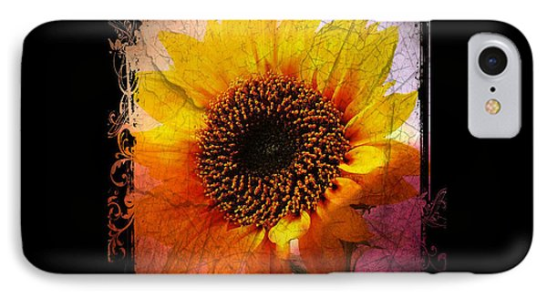 Sunflower Sunset - Art Nouveau  IPhone Case by Absinthe Art By Michelle LeAnn Scott