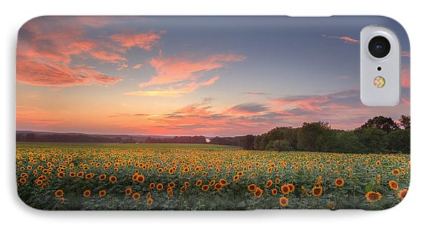 Sunflower Sunset Phone Case by Bill Wakeley