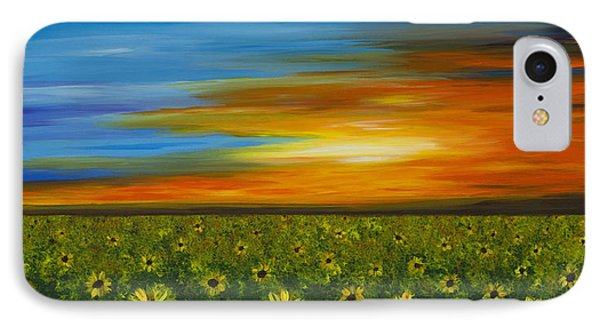 Sunflower Sunset - Flower Art By Sharon Cummings IPhone Case by Sharon Cummings