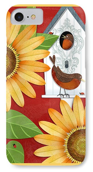 Sunflower Surprise IPhone Case by Valerie Drake Lesiak