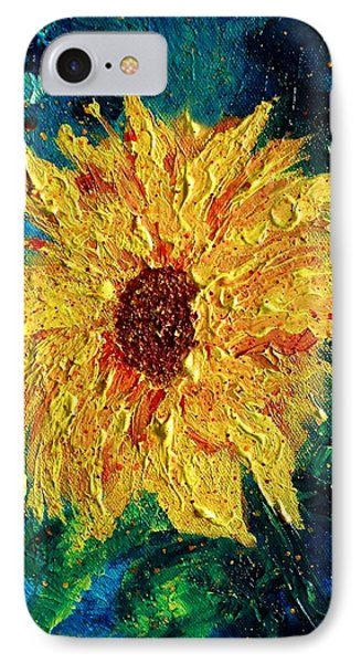 Sunflower - Tribute To Vangogh IPhone Case by Robin Monroe