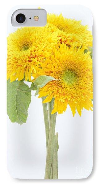 Sunflower Trio Phone Case by Anne Gilbert