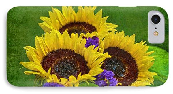 Sunflower Trio IPhone Case by Sandi OReilly