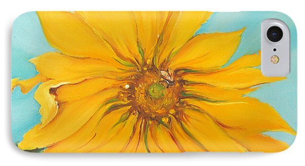 Sunflower With Bee Phone Case by Bettina Star-Rose