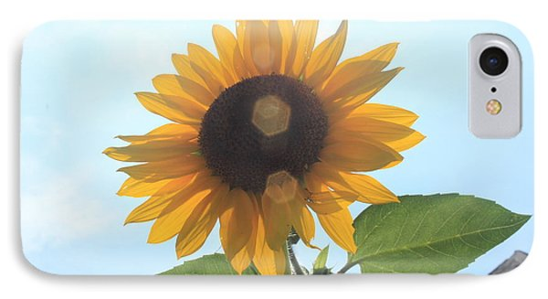 Sunflower With Flare 1 IPhone Case by Lotus