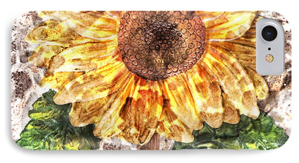 Sunflower With Hope And Love IPhone Case by Art World
