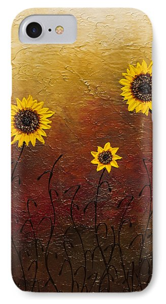 Sunflowers 2 IPhone Case by Carmen Guedez