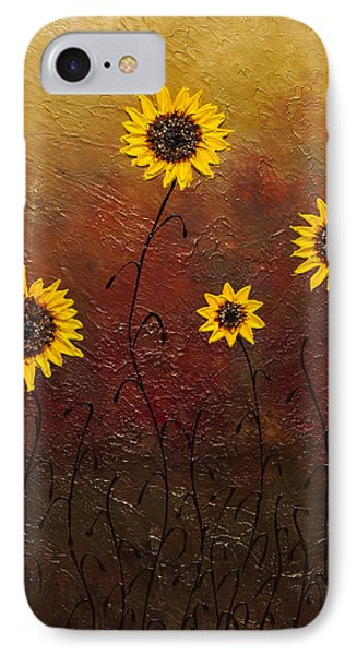 Sunflowers 3 IPhone Case by Carmen Guedez