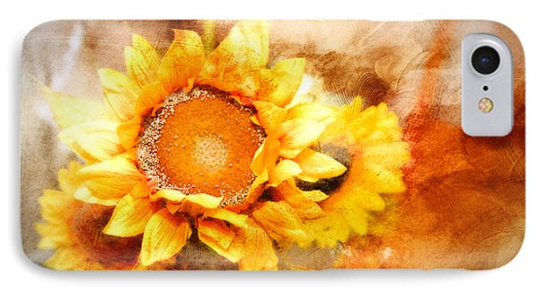 IPhone Case featuring the photograph Sunflowers Aglow by Mary Timman