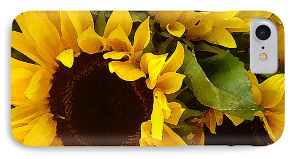Sunflowers IPhone 7 Case by Amy Vangsgard