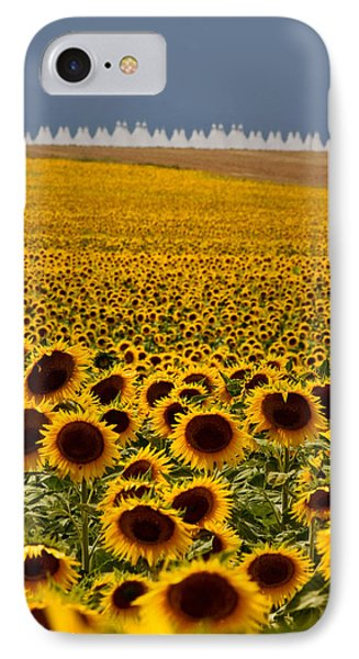 IPhone Case featuring the photograph Sunflowers And Airports by Ronda Kimbrow