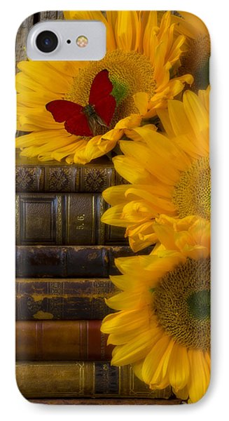 Sunflowers And Old Books IPhone Case