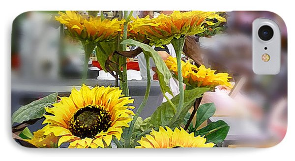 Sunflowers At The Market Florence Italy IPhone Case