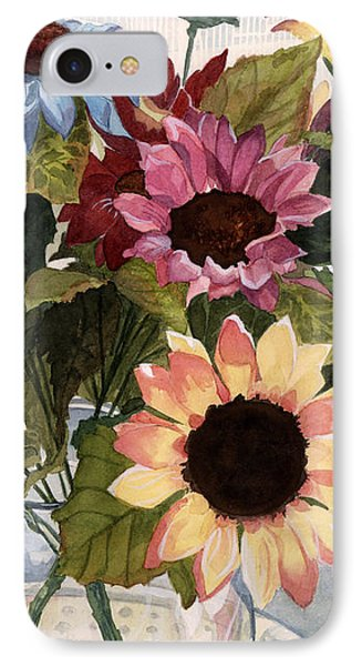 Sunflowers IPhone Case by Barbara Jewell