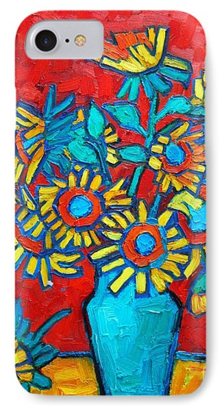 Sunflowers Bouquet IPhone Case by Ana Maria Edulescu