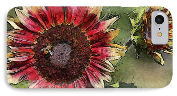 IPhone Case featuring the photograph Sunflowers by Brian Davis