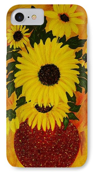 IPhone Case featuring the painting Sunflowers by Celeste Manning