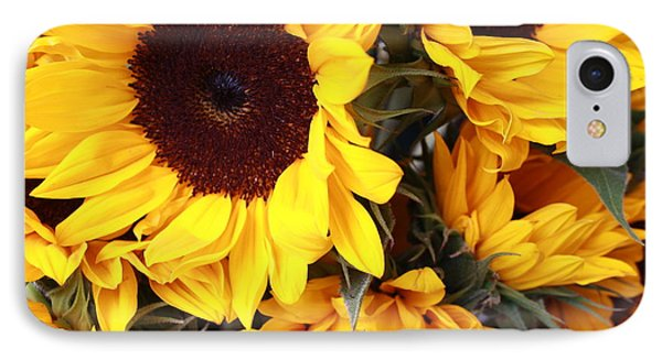 IPhone Case featuring the photograph Sunflowers by Dora Sofia Caputo Photographic Art and Design