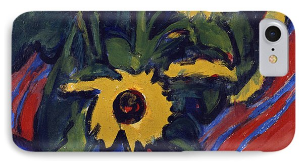 Sunflowers Phone Case by Ernst Ludwig Kirchner