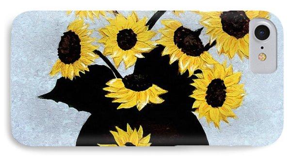 Sunflowers Expressive Brushstrokes IPhone Case