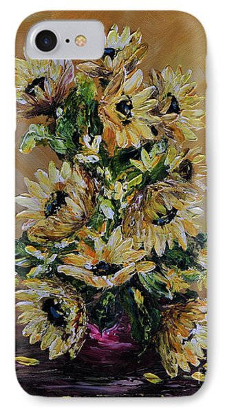 IPhone Case featuring the painting Sunflowers For You by Teresa Wegrzyn