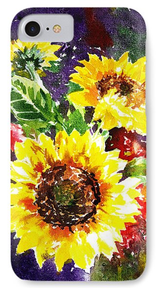 Sunflowers Impressionism IPhone Case by Irina Sztukowski