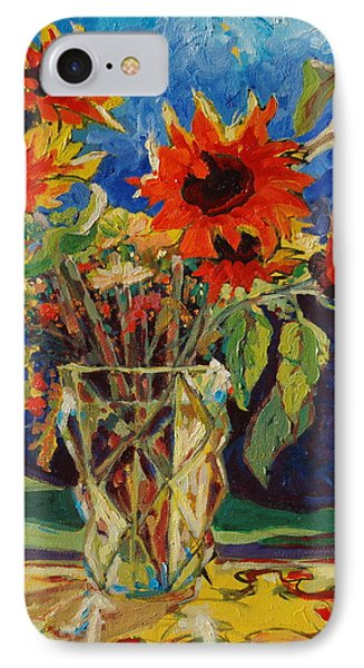 Sunflowers In A Crystal Vase IPhone Case