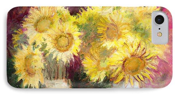 Sunflowers In Jars IPhone Case by J Reifsnyder