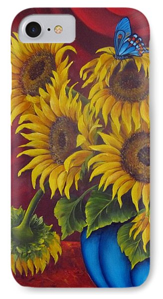 Sunflowers IPhone Case by Katia Aho